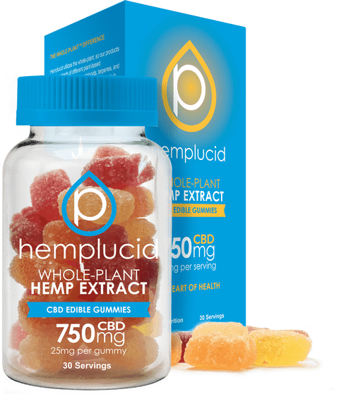 Hemplucid 30ct 25mg gummies