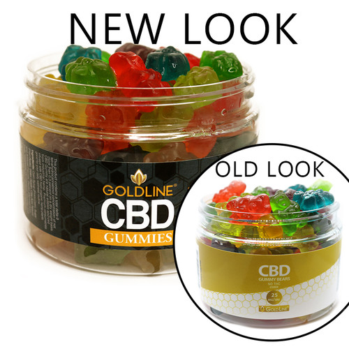 Gold Line CBD 25MG gummies 12oz