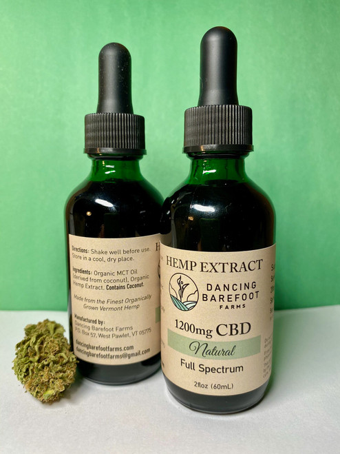 2 oz Natural Extract 1200 mg CBD Extracts are an easy way to get CBD in your body. Based on your weight and dosage needs, simply use the dropper to put the extract liquid under your tongue. Keep it there for a few seconds to get absorption going, then swallow normally. This formulation has a whopping 1200 mg CBD! You'll know its working when you feel a bit more relaxed and comfortable.