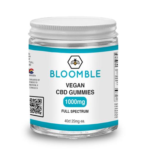BLOOMBLE 1,000mg Vegan CBD Gummies