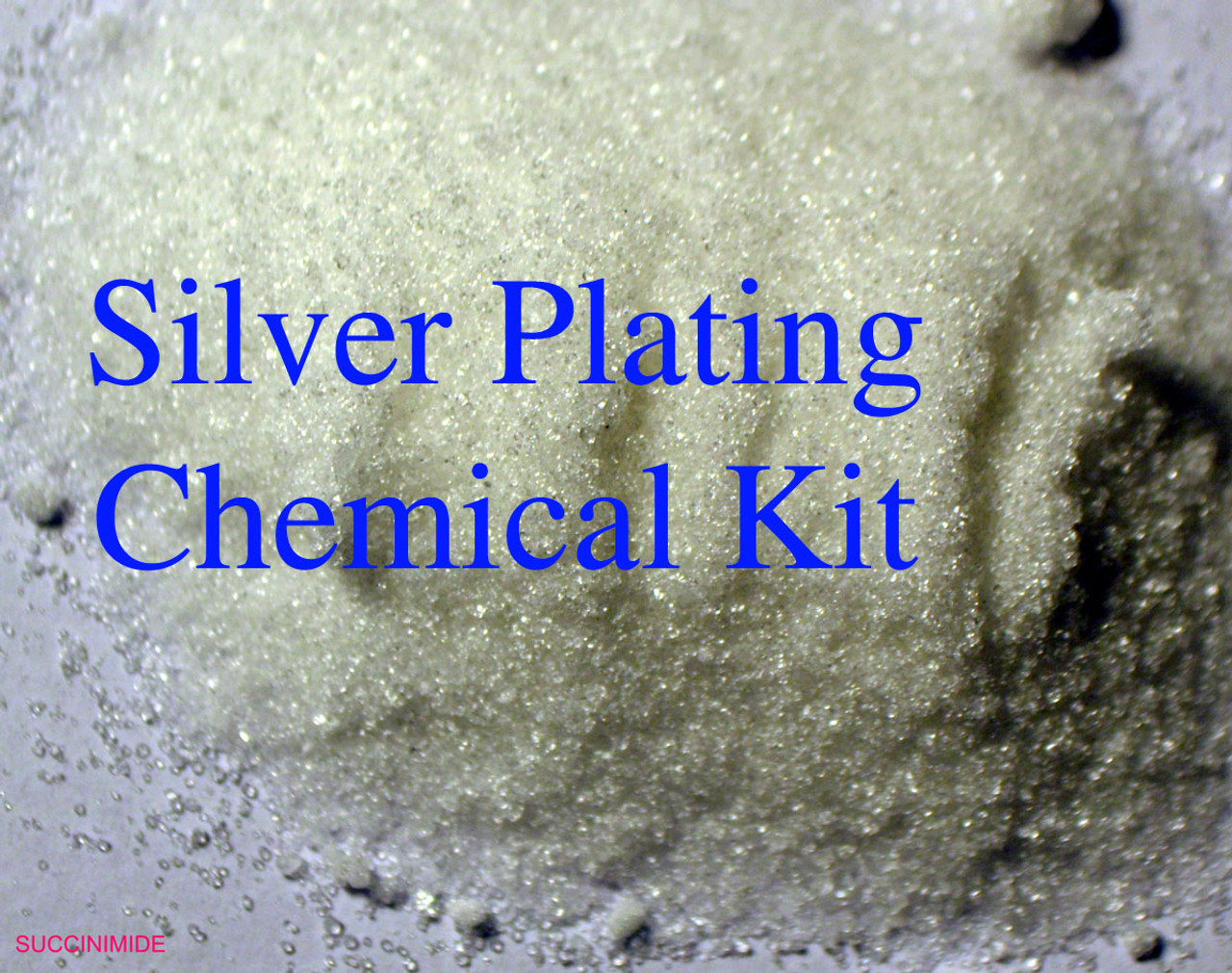 SC-2: Succinimide Silver Plating Solution Complete Chemical Kit, to Make  500 mL