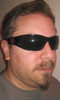 OutLaw Eyewear Tornado Spider Aluminum Biker Sunglass, Black frame Gray Shatter Resistant lenses
