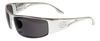 Prescription OutLaw Eyewear Fugitive Aluminum Motorcycle Polished Aluminum Sunglass