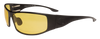 OutLaw Eyewear Fugitive TAC Black frame with yellow shooting lenses