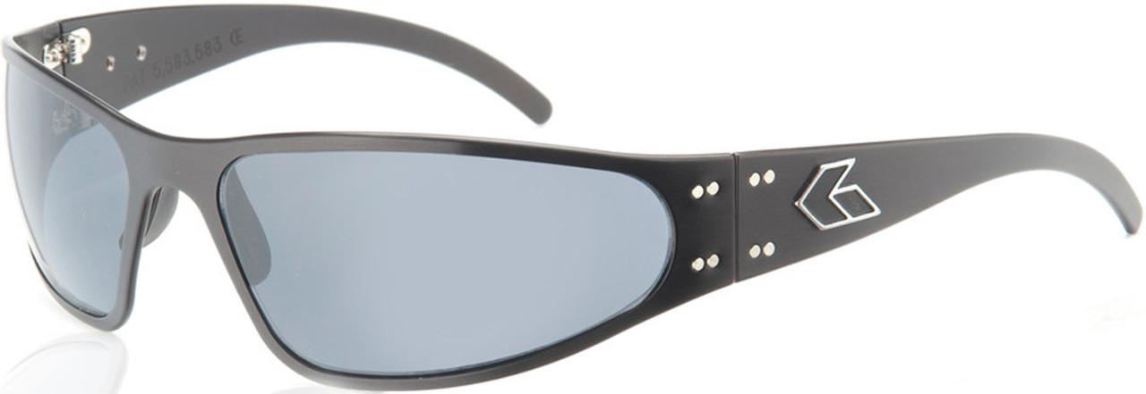 5bd5372b40e Gatorz Wraptor Motorcycle Sunglasses - Black frame Gray lenses ...