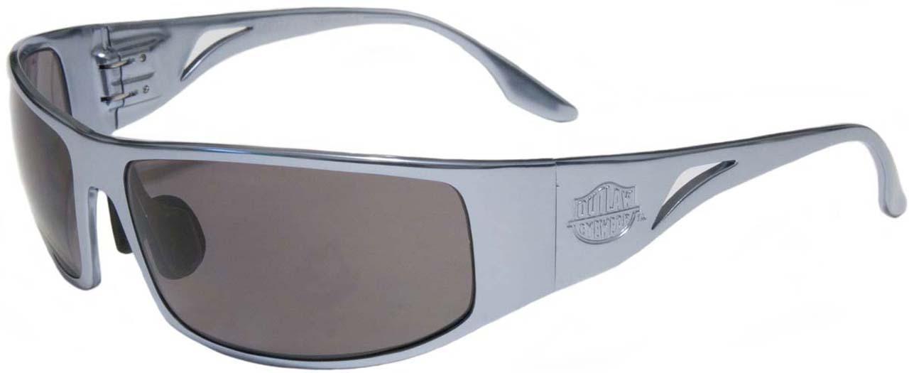 c496bc26baa47 Prescription OutLaw Eyewear Fugitive Aluminum Motorcycle GunMetal Sunglass