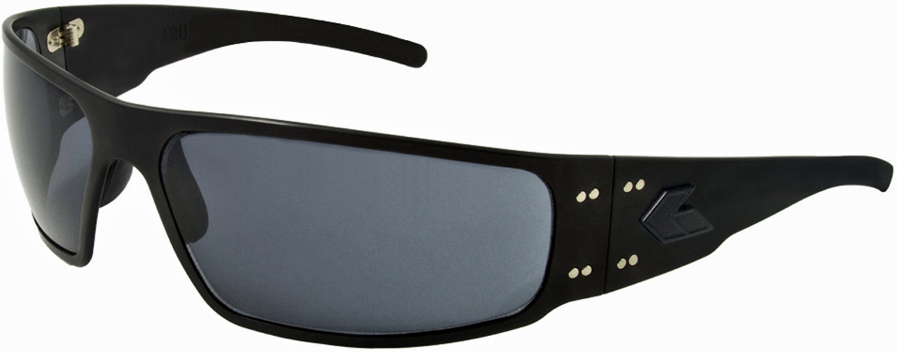 454e5041e4ef Gatorz Magnum Black Aluminum Military and Motorcycle Sunglass Polarized  lenses