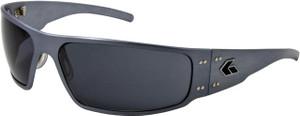 Gatorz Magnum Motorcycle Aluminum Sunglass GunMetal frame Gray lenses