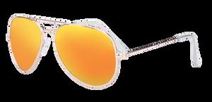 SunKissed Aviator 3025 sunglass, Gold frame with Sunburst Orange lenses