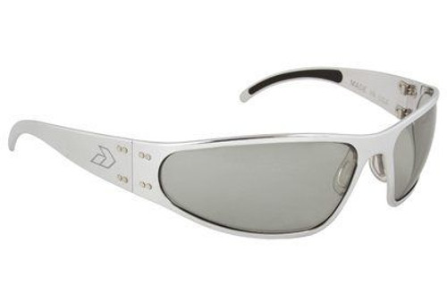 Gatorz Wraptor Brushed Aluminum gray frame with Gray Polarized lenses