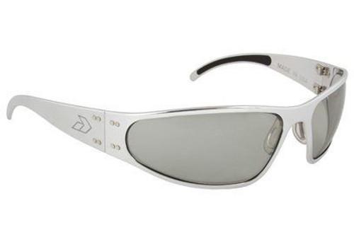 Gatorz Wraptor Brushed Aluminum gray frame with Gray Polarized lenses
