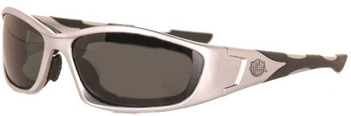 Intruder 2 Silver frame Gray Polarized lenses- Motorcycle and Extreme Sports Sunglass