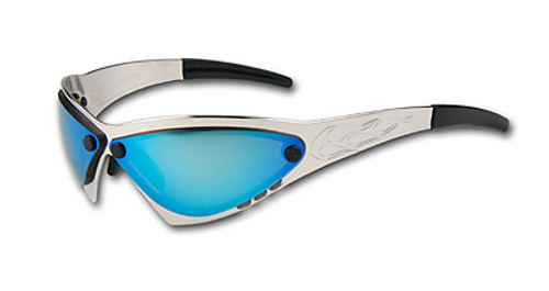WildSide Eyewear Eliminator Motorcycle Sunglass- Billet Aluminum