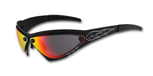 Eliminator Billet Aluminum Sunglasses - Cherry Chrome lenses
