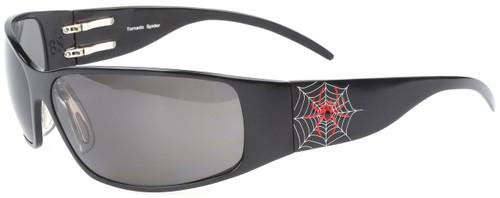 OutLaw Eyewear Tornado Spider Aluminum Sunglass, Black frame with Gray Shatter Proof lenses