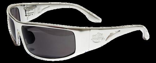 Prescription OutLaw Eyewear Fugitive Aluminum Motorcycle Polished Aluminum Sunglass