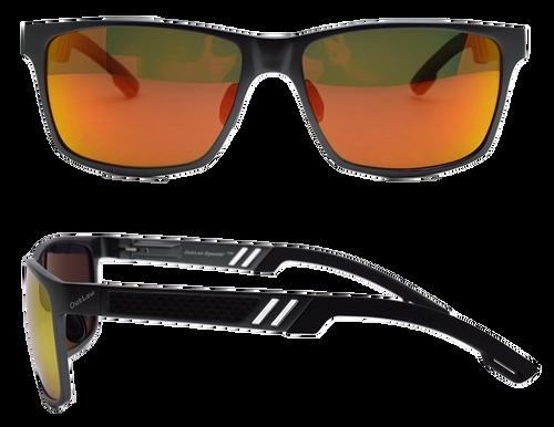 OutLaw Eyewear Wayfarer Black frame with Sunburst Polarized lenses