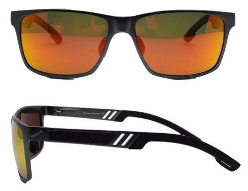 OutLaw Eyewear Wayfarer Black frame with Sunburst Polarized lenses