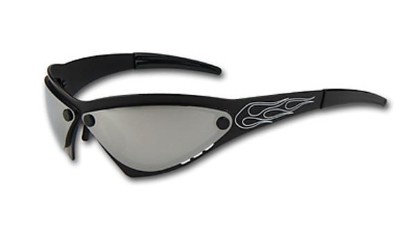 Eliminator Billet Aluminum Sunglasses - Chrome lenses EliminatorBlackChrome