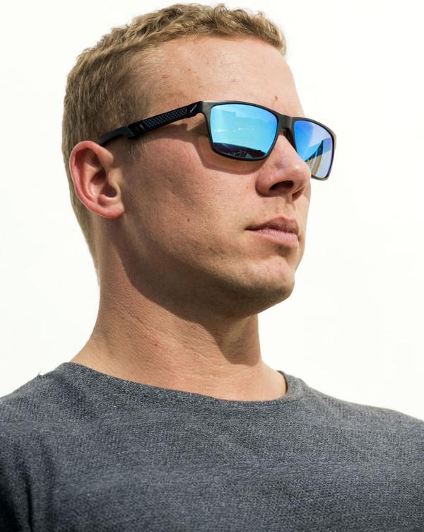 Cole Honeyset sunglass modeling