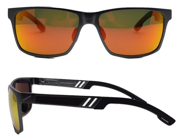 Wayfarer Mg sunglass GunMetal frame Sunburst lenses sunglass