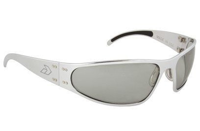 f846d5d1f5f Gatorz Wraptor Brushed Aluminum gray frame with Gray Polarized lenses