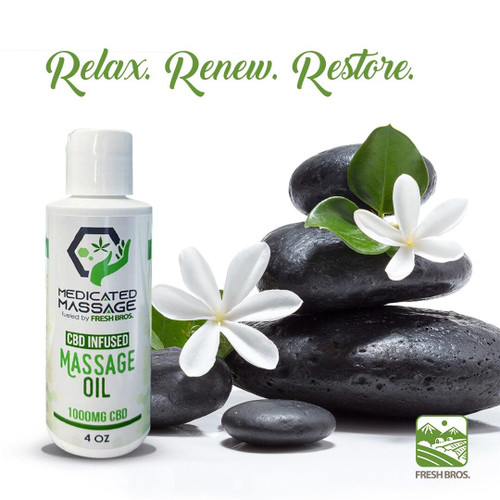 Medicated Massage - CBD Massage Oil 1000mg