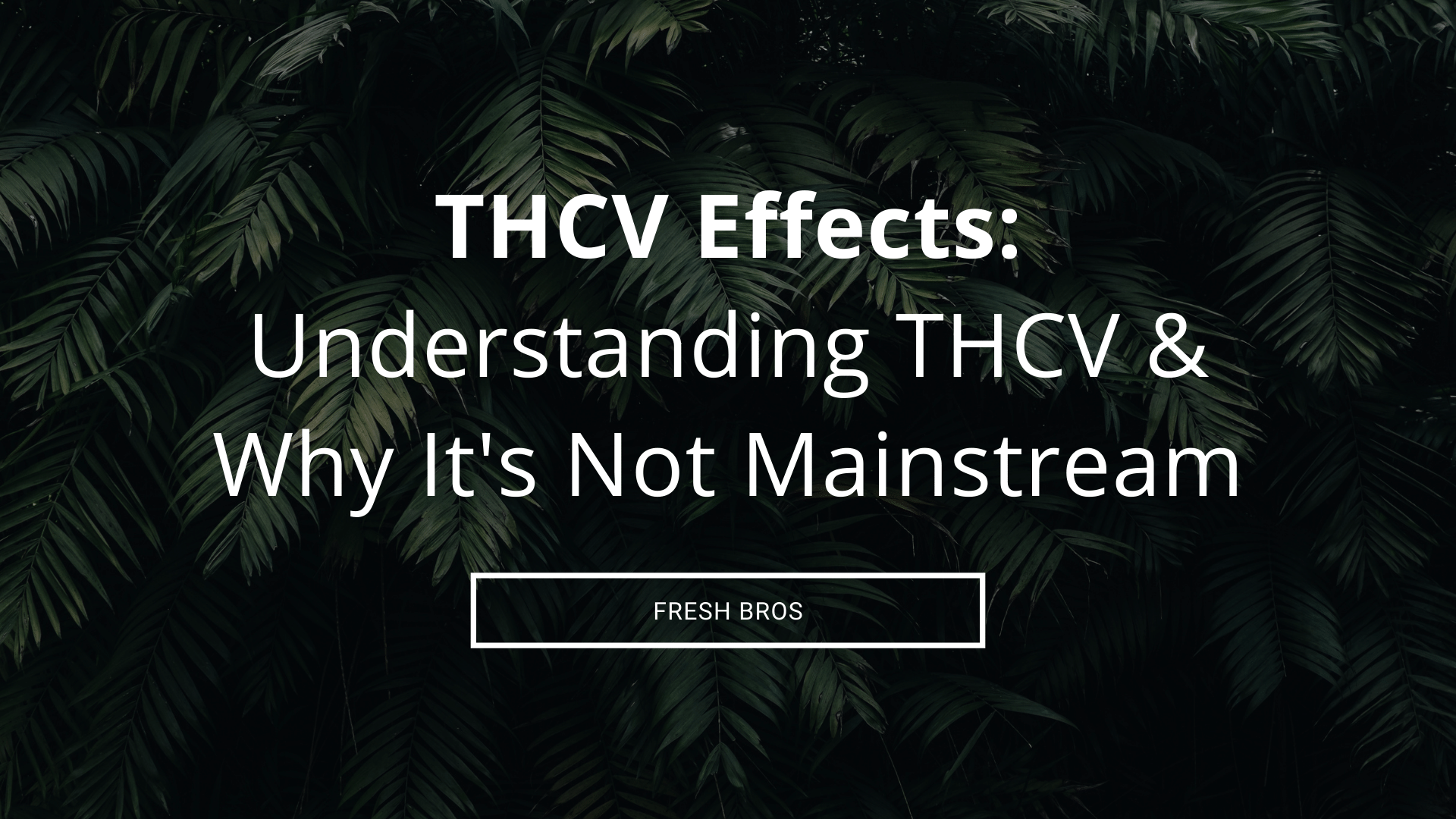 THCV Effects: Understanding THCV & Why It's Not A Mainstream Cannabinoid