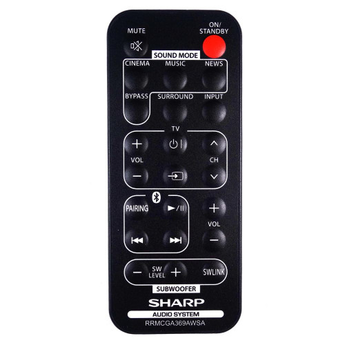 Genuine Sharp HT-SB35D Soundbar Remote Control