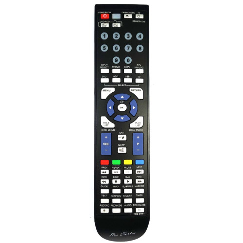 RM-Series DVD Player Replacement Remote Control for AK59-00104J