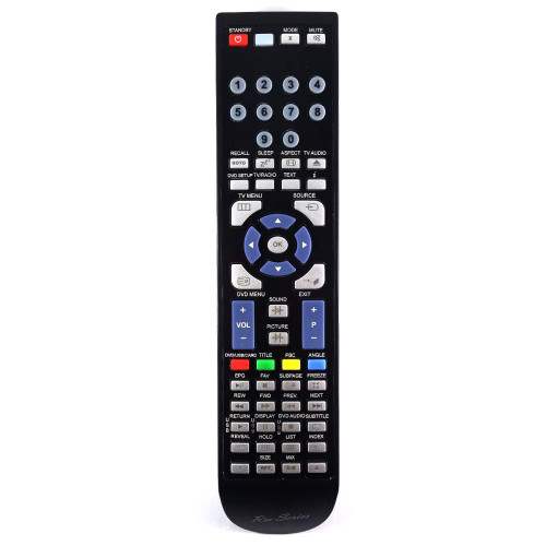 RM-Series TV Replacement Remote Control for Logik L26DVDB10