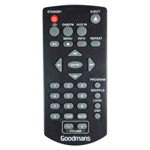 Genuine Goodmans MICRODAB10 DVD Player Remote Control