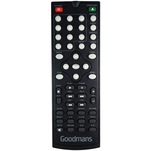 Genuine Goodmans GDVD3607HDMI DVD Player Remote Control