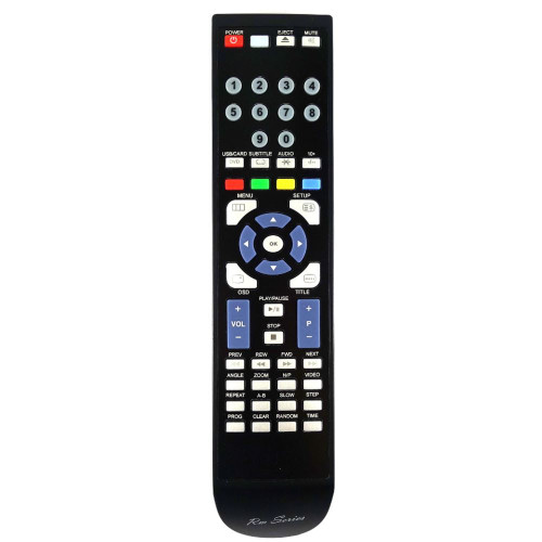 RM-Series DVD Player Replacement Remote Control for LOGIK L2HDVD12
