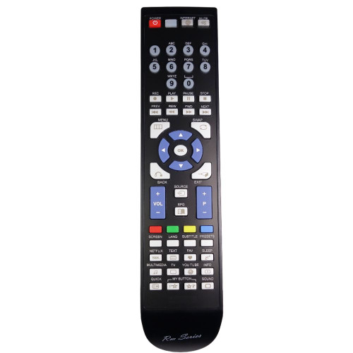 RM-Series TV Remote Control for Luxor LUX0140001B/01