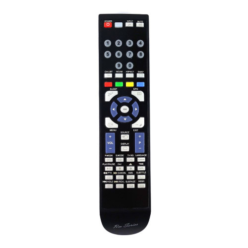 RM-Series TV Remote Control for Polaroid LE-19GBR+DVD