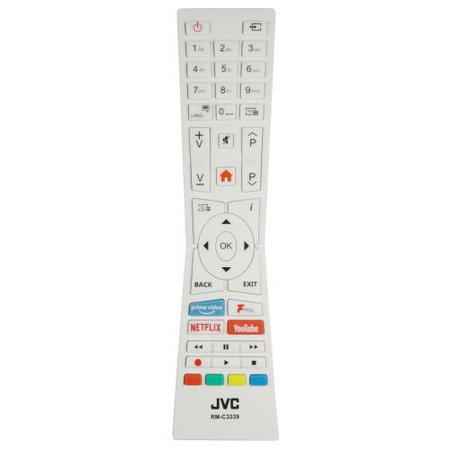 Genuine JVC LT-49C890 White TV Remote Control