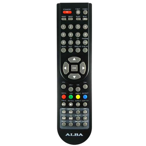 Genuine Alba LED16DVDA5B TV Remote Control