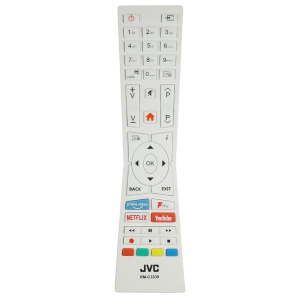 Genuine JVC LT-43C890 White TV Remote Control