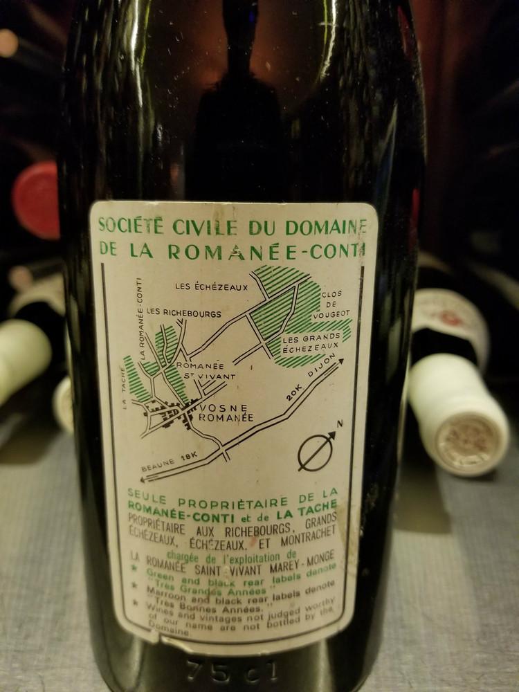 Domaine de la Romanee-Conti Romanee-Conti Grand Cru 1966 750ml