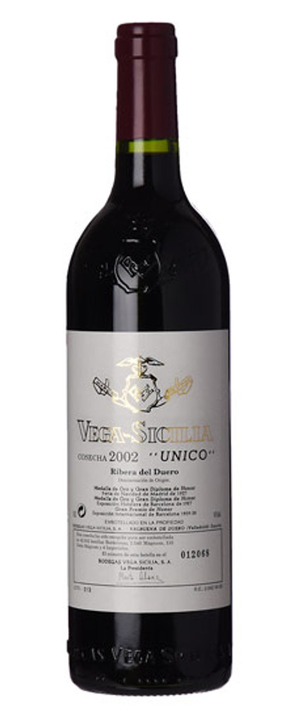 Vega Sicilia Unico Ribera del Duero 2002 750ml