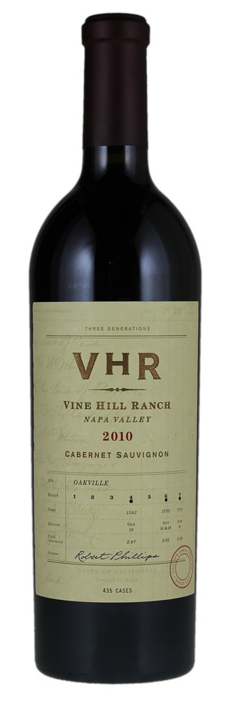 Vine Hill Ranch VHR Cabernet Sauvignon Napa Valley 2010 1500ml