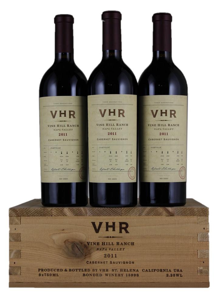 Vine Hill Ranch VHR Cabernet Sauvignon Napa Valley 2011 in OWC (3 x 750ml)