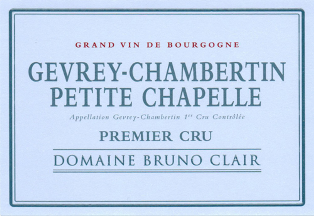 Bruno Clair Gevrey Chambertin Petite Chapelle 1er Cru 2016 1500ml [Ex-Domaine]