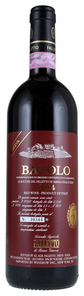 Bruno Giacosa Barolo Riserva Le Rocche del Faletto 2004 750ml