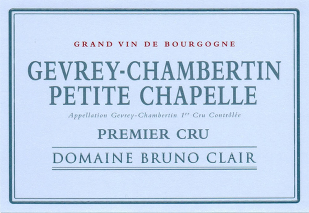 Bruno Clair Gevrey Chambertin Petite Chapelle 1er Cru 2016 750ml [Ex-Domaine]
