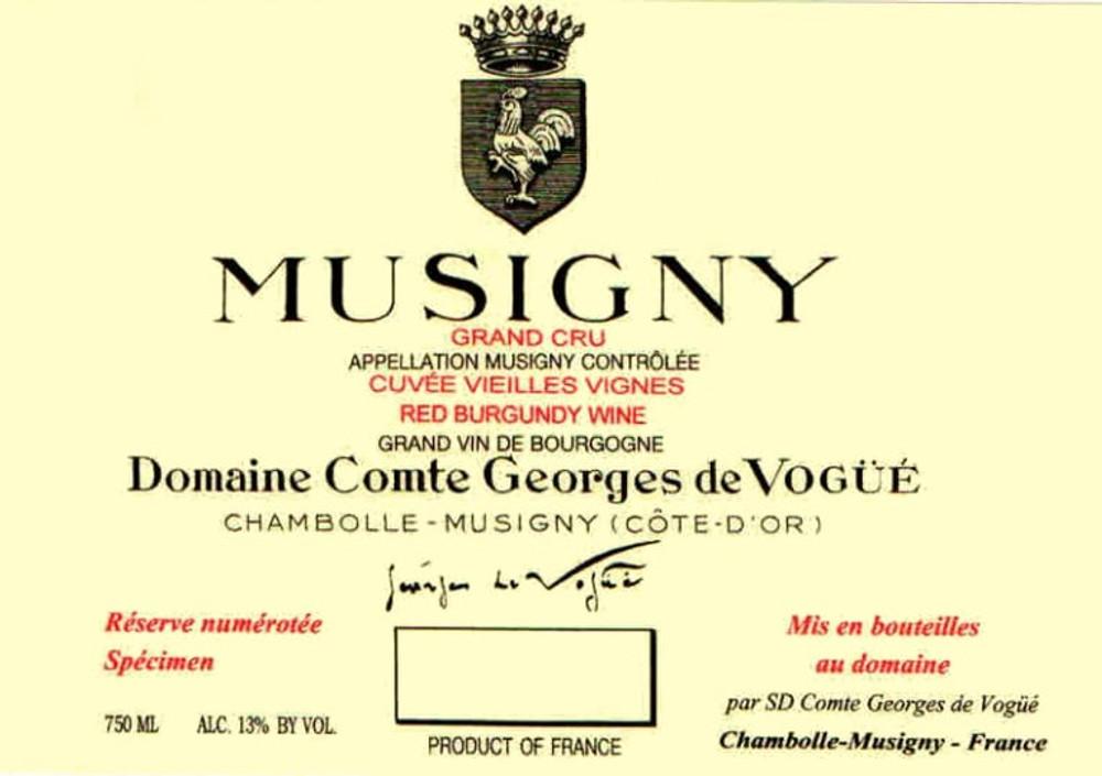 Domaine Comte Georges de Vogue Musigny Cuvee Vieilles Vignes Grand Cru 2018 1500ml