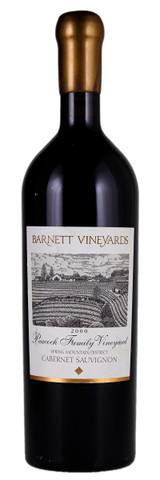 Barnett Vineyards Cabernet Sauvignon Peacock Family Vineyard 2000 750ml