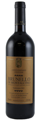Conti Costanti Brunello di Montalcino 2001 750ml