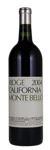 Ridge Monte Bello 2004 1500ml